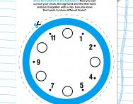 Make your own practice clock worksheet