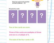 Making multiples with digit cards worksheet