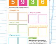 Making numbers from number cards
