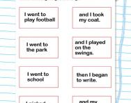 Match the sentence halves worksheet