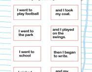 Match the sentence halves worksheet