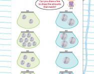 Matching money (5p and 10p) worksheet