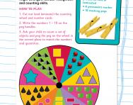 Matching numbers and objects 1-10