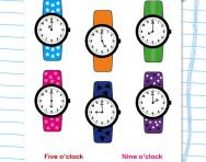 Matching the time: o'clock worksheet