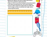 Measure length using centimetres