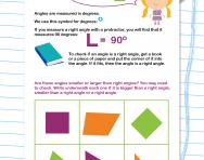 Measuring angles smaller or larger than a right angle