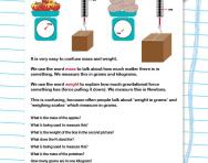 Measuring mass and weight worksheet