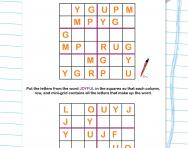 Mini word Sudoku