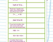 Mixed-up mental maths worksheet