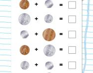 Money addition: 1p, 2p, 5p, 10p, 20p worksheet