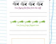 More handwriting silly sentences worksheets