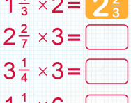 Multiplying mixed numbers by whole numbers tutorial