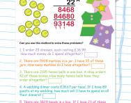 Multiplication problems using long multiplication worksheet
