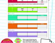 Multiplication: the grid method worksheet
