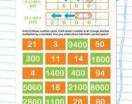 Multiplying by 100 worksheet