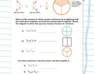 Multiplying fractions worksheet