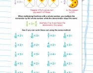 Multiplying fractions by whole numbers worksheet
