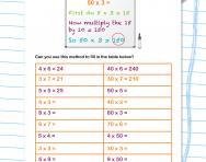 Multiplying multiples of ten worksheet