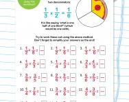 Multiplying pairs of fractions worksheet