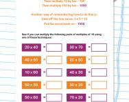 Multiplying pairs of multiples of 10 worksheet