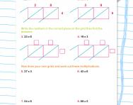 Multiplying two-digit numbers with lattice multiplication worksheet