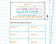 Multiplying with the partitioning method worksheet