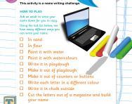 Name writing challenge