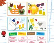 Naming the seasons worksheet
