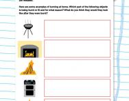 Non-reversible changes: burning worksheet