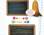 Non-verbal reasoning worksheet: Adding and subtracting shapes