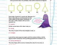 Non-verbal reasoning worksheet: Coding features of diagrams
