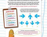 Non-verbal reasoning worksheet: Completing a series