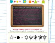 Non-verbal reasoning worksheet: Compound figures: adding shapes together