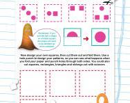 Non-verbal reasoning worksheet: Folding figures