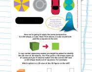 Non-verbal reasoning worksheet: Introduction to 3D shapes