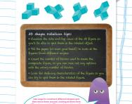 Non-verbal reasoning worksheet: Rotating 3D shapes