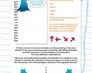 Non-verbal reasoning worksheet: Understanding direction