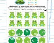 Number bonds to 100 worksheet