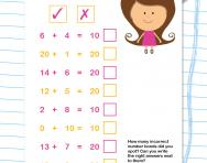 Number bonds to 10 and 20 practice worksheet