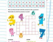 Number bonds to 20 crossword