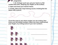 Number formation 1 to 5