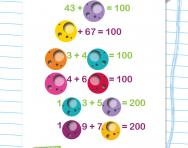 Number sentences totalling 100 and 200 worksheet
