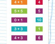 Numbers 0-10: addition worksheet