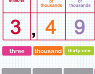 Saying and writing numbers up to ten million in words tutorial
