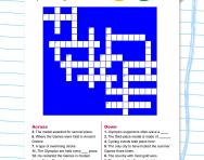 Olympics crossword for children