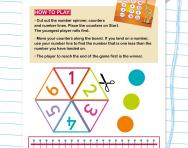 One Less Board Game: numbers 0-20