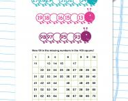 Ordering numbers 1 to 100 worksheet