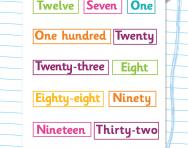 Ordering numbers in words worksheet