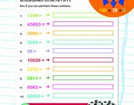 Partitioning numbers up to five digits worksheet