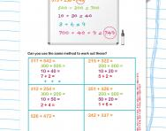 Partitioning to add three-digit numbers worksheet